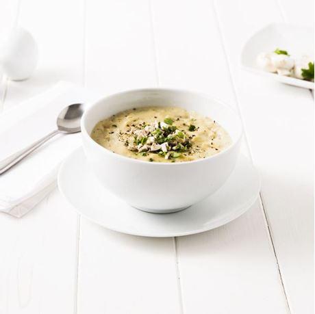 Obrázek z Těstovinová polévka se šunkou a houbami